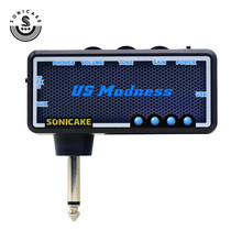 Sonicake Mini Portable USB-chargeable Amplifier Electric Guitar Plug Headphone Amp Ultra High-headroom Clean Combo QAP-4