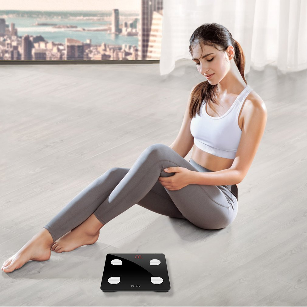 French version  LESHP Body Fat Scale Smart BMI Scale Digital Bathroom Wireless Weight Scale Body Composition AnalyzerFrench version  LESHP Body Fat Scale Smart BMI Scale Digital Bathroom Wireless Weight Scale Body Composition Analyzer