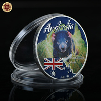 WR Australian Metal Coin Tasmanian Devil Endangered Cute Animal 999.9 Silver Coins Souvenir Gifts for Luxury Gifts