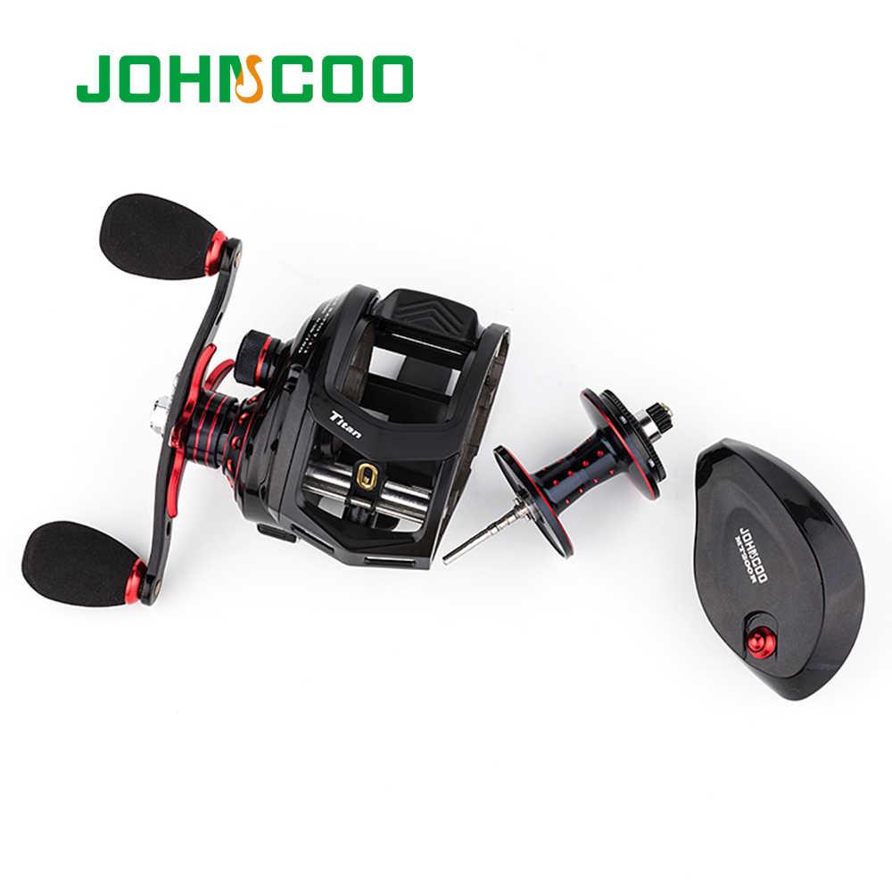 JOHNCOO Bait Casting Reel Big Game 13kg Max Drag Saltwater Fishing Reel 11+1 BB 7.1:1 Aluminium Alloy Body Jigging Fishing Reel