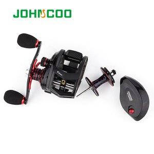 Image 5 - JOHNCOO Bait Casting Reel Big Game 13kg Max Drag Sea Fishing jig Reel 11+1 BB 7.1:1 Aluminium Alloy Body Jigging Fishing Reel
