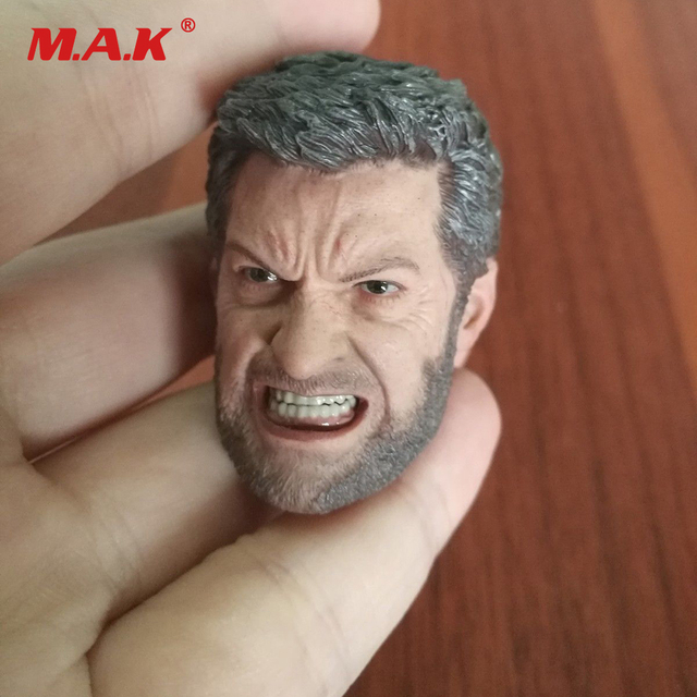 Angry Version Head Sculpt 1:6 Scale Wolverine Head Carving Model for 12 inches Male Action Figure