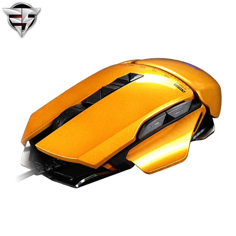 James burro 325 óptico USB con cable pro Gaming mouse Ratones ajustable 3000 DPI RGB LED retroiluminación para PC portátil gamer FPS LOL CF CS