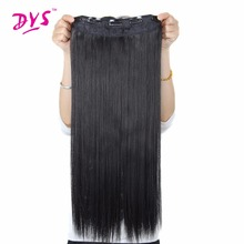 Deyngs 5 Clips Natural straight Clip In Hair Extention 24inc