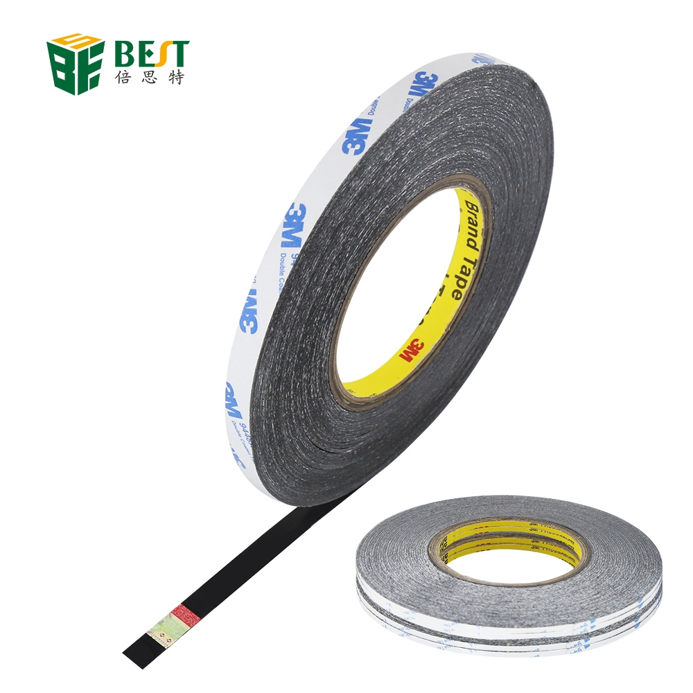 3M Black Strong Sticky Transparent Double Sided Adhesive Tape Circle 1mm-30mm 50m Length For Home Hardware Repairing
