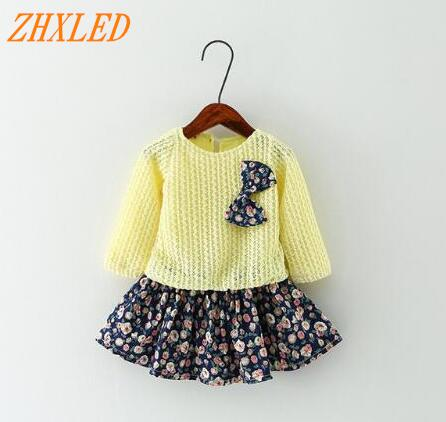 цены Spring autum Baby Girl Dress Princess Dress Baby Girls Party for Toddler Girl Dresses Clothing Long sleeve tutu Kids Clothes