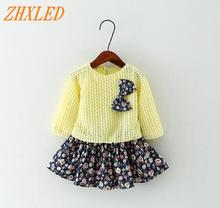 Summer Baby Girl Dress 2016 New Princess Dress Baby Girls Party for Toddler Girl Dresses Clothing Long sleeve tutu Kids Clothes цены онлайн