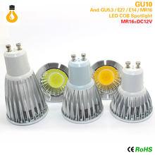 Bombilla de foco MR16 E27 E14 GU10 GU5.3 COB regulable 7W 9W 12 W LED de alta potencia luz caliente/blanco LED lámpara Downlight