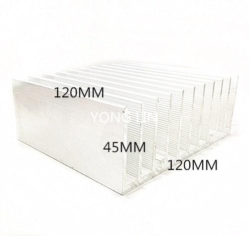 2 pieces Aluminum heatsink/Power electronics dedicated heatsink 120*45-120/Aluminum color