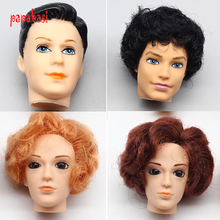 One Pcs 3D eyes brown hair Boyfriend Male Doll Head For Ken Doll For Barbie Boyfriend