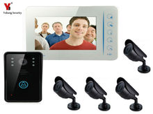 YobangSecurity 7″Video DoorPhone Video Intercom Home Doorbell System IR Night Vision intercom With CCTV Outdoor Bullet Camera