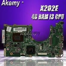 Akemy X202E placa base de Computadora Portátil para ASUS X202E X201E S200E X201EP prueba placa base original 4G RAM I3-3217u CPU