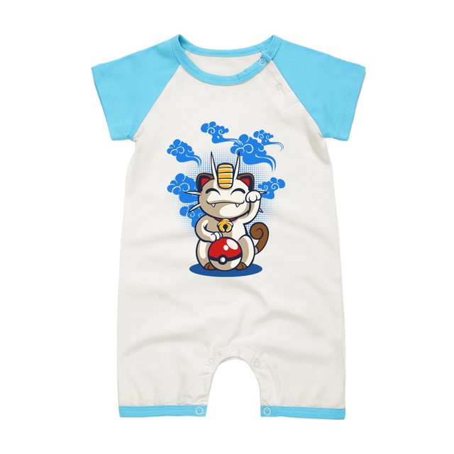Pyjamas Bébé MIAOUSS POKEMON – Barboteuse Bébé À Manches Courtes