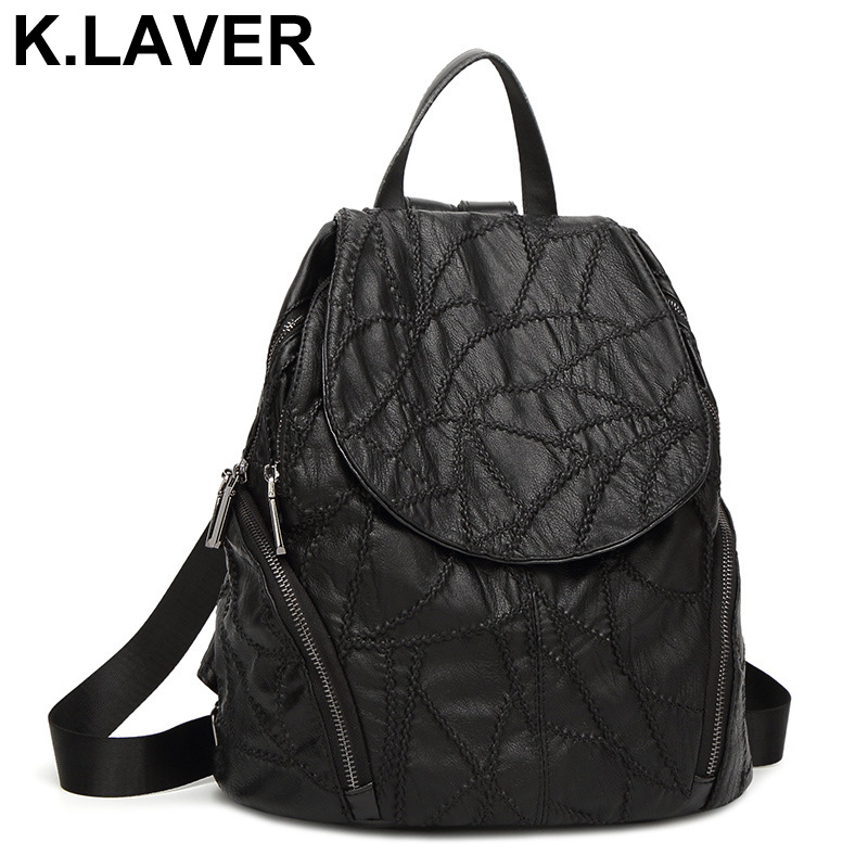 Women Leather Casual Backpacks Teenage Girl Shoulder Bag Female Travel Laptop School Bags Lady Leisure Backpack Mochila Bookbag senkey style fashion genuine leather backpacks bag for men women shoulder bag teenagers casual travel school bags laptop mochila