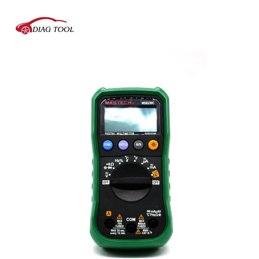 MASTECH MS8239C Digital Multimeter AC DC Voltage Current Capacitance Frequency Temperature Tester Auto range multimetro 3 3/4  цены