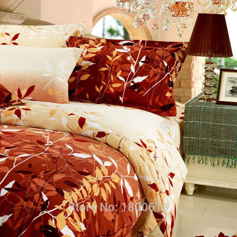 Favorite 2015 4pcs Comfort Set Late Autumn Leaf Bedding Sets Cheap Cool  RI86