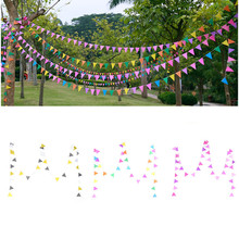 4M Colorful Flags Banners Hanging Garland Wedding Decor Bunting Birthday Party Christmas Garlands Decoration Favors