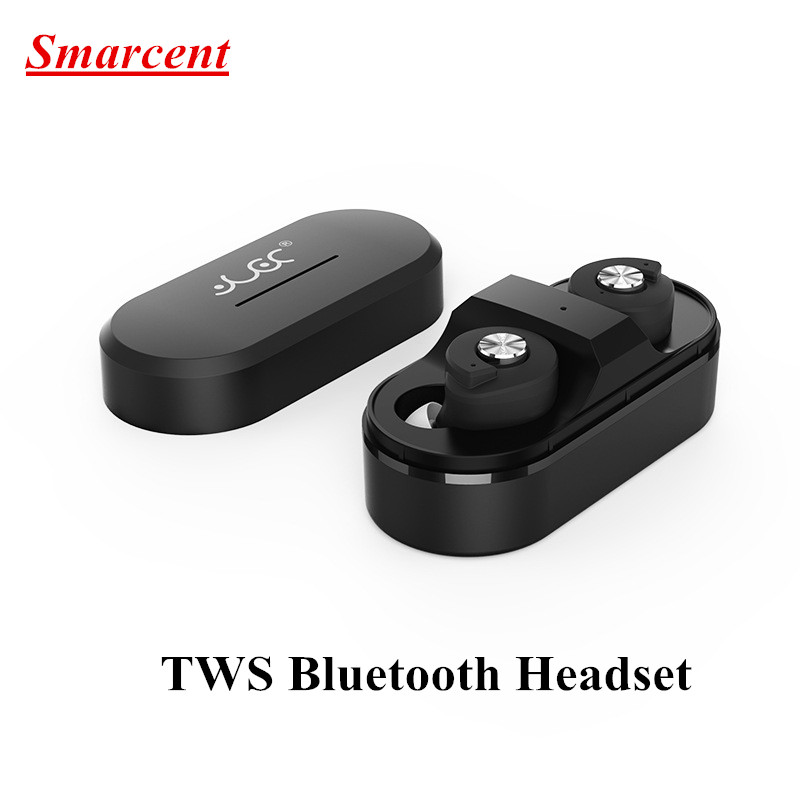 Smarcent TWS Bluetooth Headset for iPhone 7 Dual Stereo Wireless Bluetooth Earphone Hifi Earbuds in Ear Headphones Twins Earbud wireless headphones bluetooth earphone suitable for iphone samsung bluetooth headset 4 2 tws mini microphone
