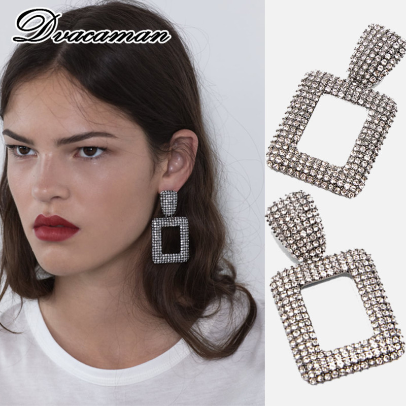 Dvacaman Geometric Earrings Hanging Modern Jewelry Za Fashion Women for Big