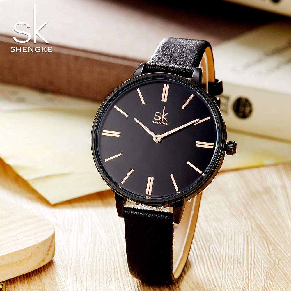 Shengke Fashion Ladies Women Watch Luxury Casual Women Leather Quartz Watch Women Wristwatch Clock Relogio Feminino 2018 shengke women watches luxury brand wristwatch leather women watch fashion ladies quartz clock relogio feminino new sk