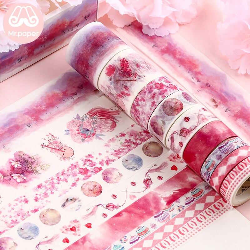 Mr Paper 26 Designs 10pcs/box Cute Cartoon Animals Washi Tapes Scrapbooking DIY Deco Creative Japanese Kawaii Masking Tapes 4