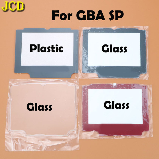 JCD 1 pcs พลาสติกแก้วเลนส์สำหรับ GBA SP เลนส์หน้าจอสำหรับ Nintendo Gameboy Advance SP เลนส์ W /กาว