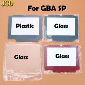 Image 1 - Jcd 1 pcs 플라스틱 유리 렌즈 gba sp 스크린 렌즈 커버 닌텐도 게임 보이 어드밴스 sp 렌즈 수호자 승/adhensive