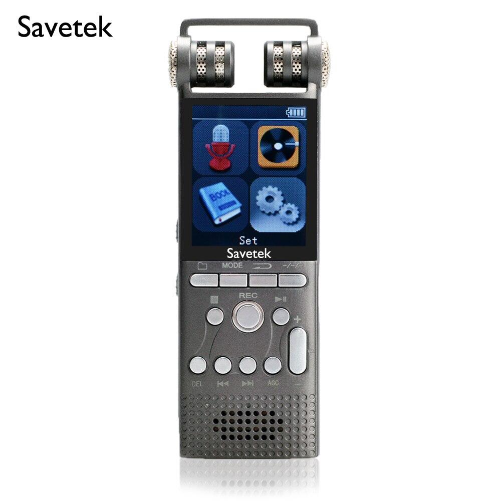 Enregistreur vocal Audio numérique professionnel activé par la voix stylo USB 8 GB 16 GB, 1536 Kbps, lecteur Mp3 Hi-fi, ebook, annulation de bruit