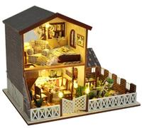 Gifts New Brand DIY Doll Houses Wooden Doll House Unisex dollhouse Kids Toy Furniture Miniature crafts free shipping