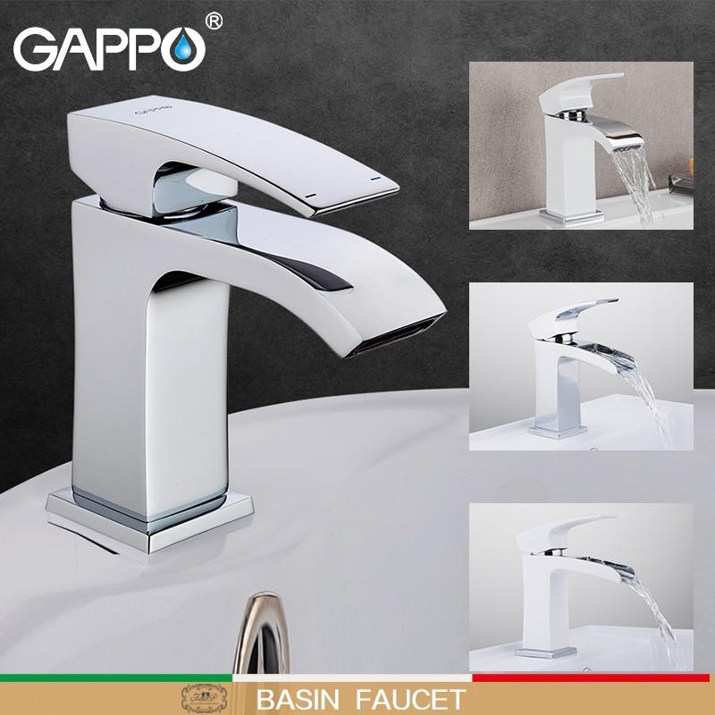GAPPO Basin Faucets Brass Bathroom Basin Sink Mixer Water Tap Wash Basin Sink Faucet Waterfall Bath Mixer Taps Torneira Griferia