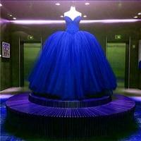 Luxury Bridal Ball Gown Wedding Dress Royal Blue Red Wedding Dresses Dream Wedding Ball Gowns Bridal Tutu Wedding Dress Gowns