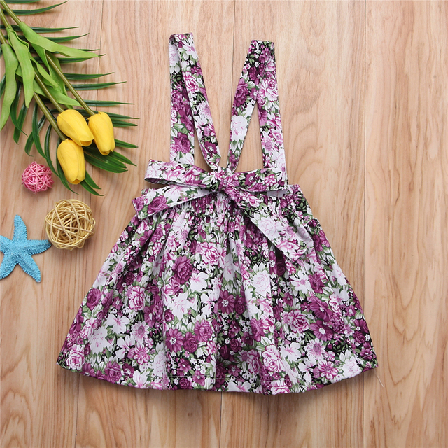 Baby Girls Floral Printing Sleeveless Clothes