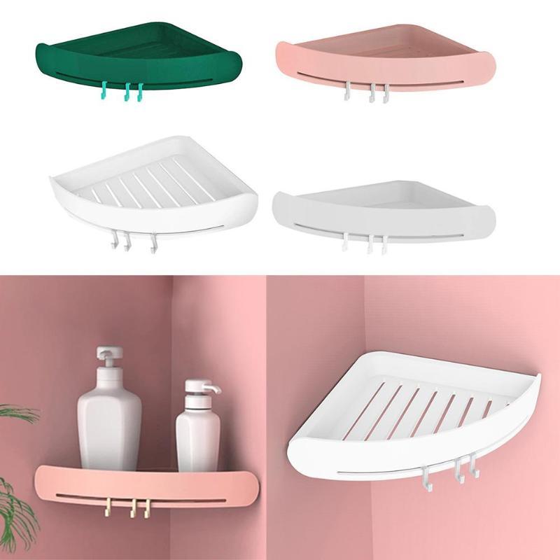 1 PC Bathroom Shelf Organizer Shampoo Shower Shelf Cosmetic Storage Organizer Kitchen Storage Rack Organizer With 3 Colors