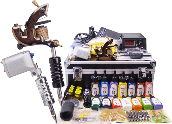 US $129.2 32% OFF|ROTARY Tattoo Machine kit digital tattoo machine gun set  permanent makeup machine kit-in Tattoo Kits from Beauty & Health on ...