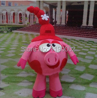 High quality of the pink mascot costume pig characters cartoon costume party Free shipping