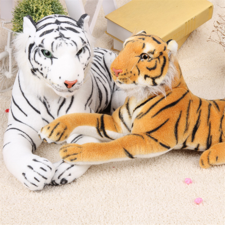43cm Cute Kawaii  Simulation Plush Tiger White and Yellow Stuffed  Anime Cushion Pillow Birthday Gifts Toys for Children Kids lovely tiger plush toys white tiger toy stuffed tiger doll cute small white tiger pillow birthday gift 30cm