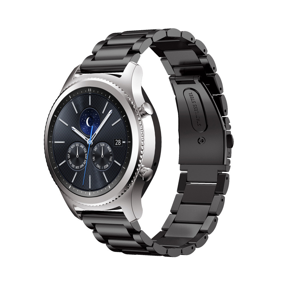 Stainless Steel Watch bands For Samsung Gear S2 S3 Smart Watch Srap Size 20 mm 22 mm Link bracelet Black Silver Band silicone rubber watch band strap replacement smartwatch bands link bracelet for samsung galaxy gear s2 sm r720 black blue red