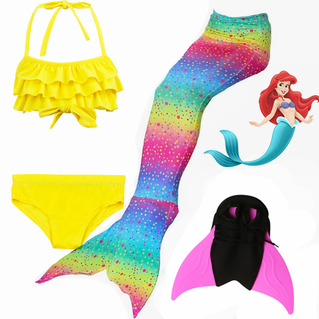 Mother & Kids Hot!2018 Rainbow Styles Mermaid Tails With Fins Monofin Kids Girls Swimming Tails Flipper Swimsuits Kids Gifts Cosplay Costumes Nourishing Blood And Adjusting Spirit