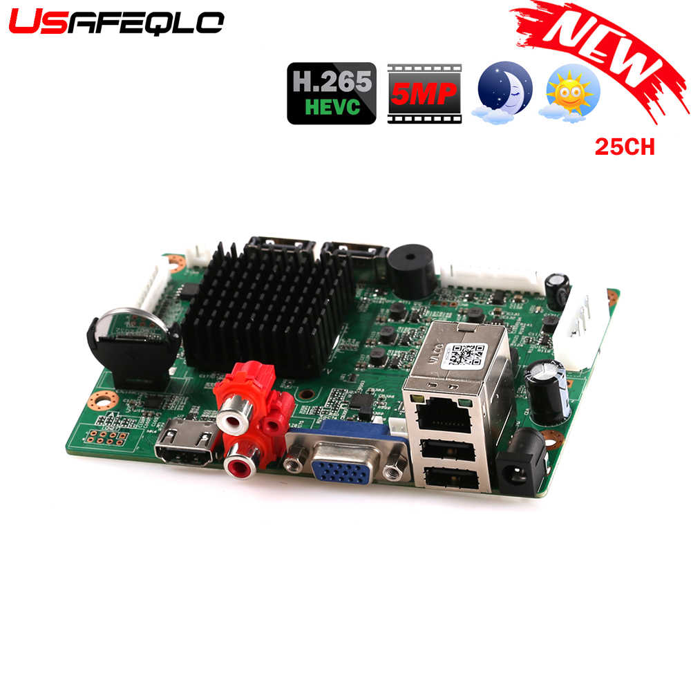 32CH 1080P CCTV NVR Board HI3536 2 SATA Poorten ONVIF Beveiliging Video Recorder Board 32CH 1080 P/25CH 5MP Video-ingang 1CH Audio I/O