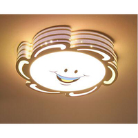 Дети лампы детская спальня мультфильм потолок Защита от солнца цветок луна кролик мужской девушка пульта дистанционного управления лампа