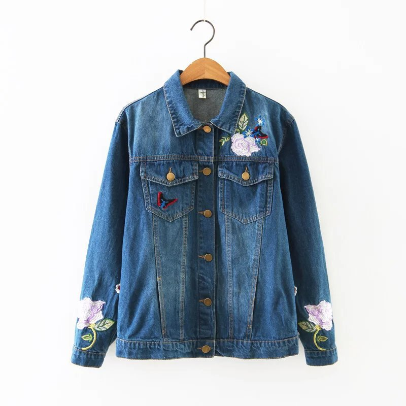 Autumn winter women s denim jacket fashion