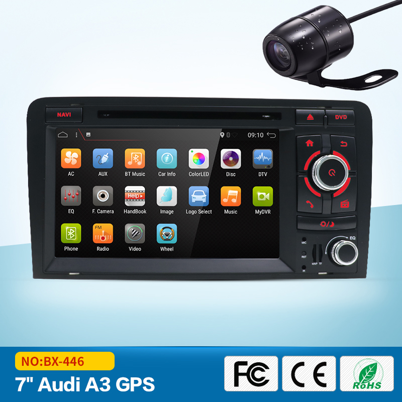 For Audi A3 S3 2002-2011 2din car multimedia dvd player GPS Navigation radio stereo Audio Bluetooth SWT USB SD wifi OBD TV 2din car pc dvd gps navigation for 2din car map dvd player car autoradio multimedia stereo audio sd usb bluetooth steering wheel