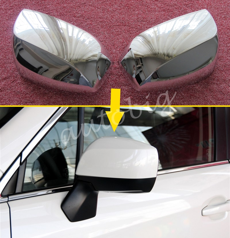 Buy Chrome Side Mirror Cover For Subaru Forester SJ XV Outback Rearview Glossy Molding Overlay for $25.37 in AliExpress store