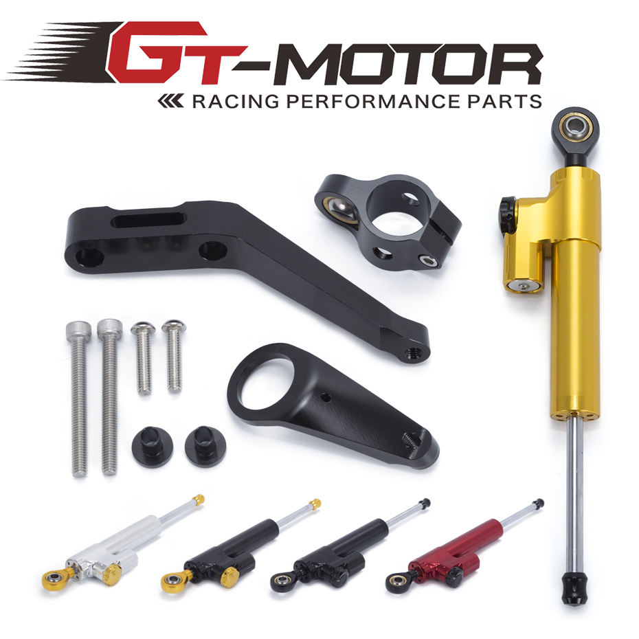GT Motor Motorcycle CNC Damper Steering StabilizerLinear Reversed Safety Control Bracket For Honda CBR954RR 2002 2003