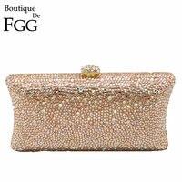 Gift Box Women Bling Fully Irregular Peach Diamond Crystal Glasses Evening Bag Wedding Party Clutch Handbags