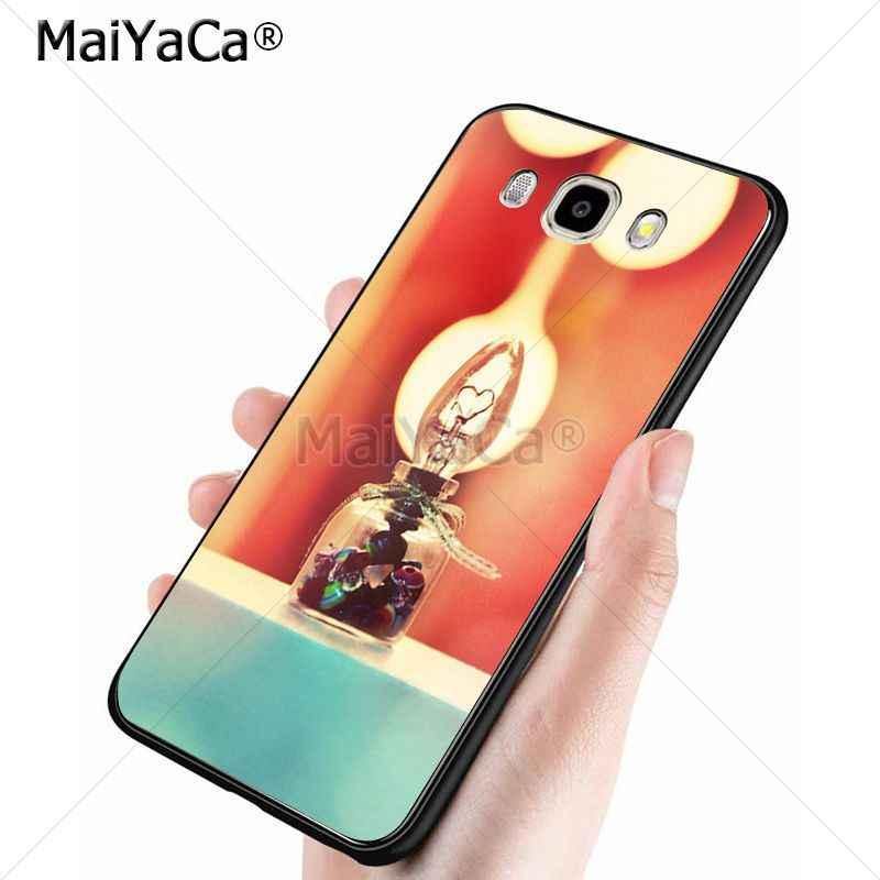 MaiYaCa Chai Thủy Tinh 2018 Mới Sang Trọng thời trang điện thoại di động trường hợp đối với samsung j6 j7 note8 note9 s10 j4 trường hợp coque