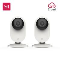 YI Home Camera 2pcs 720P Night Vision WIFI Video Monitor IP Wireless Network Surveillance Security Internation