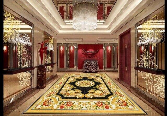 3d foto behang 3d vloeren europese tapijt waterdichte zelfklevende