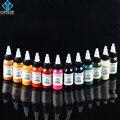 OPHIR 12 Цветов Акриловые Краски 30 МЛ/Бутылка Аэрограф Красок Body Art Краска Цвета для Временные Татуировки Пигментные Чернила _ TA053 (1-12)