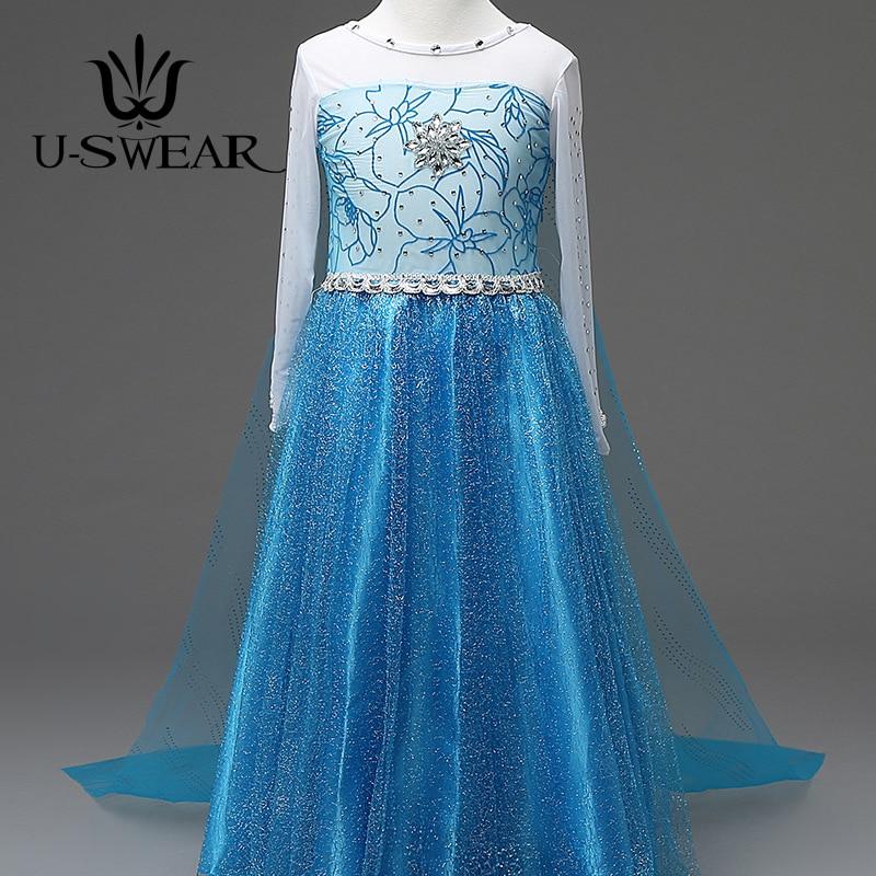 U-SWEAR 2019 New Arrival Kid   Flower     Girl     Dress   Chiffon Crystal Sequined Beaded Long Cloak Back Mermaid Trumpet   Dress   Vestidos